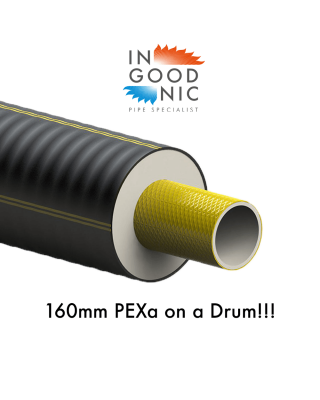 160mm PEXa Pipe on Drums